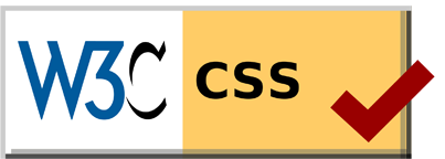 Valid CSS 3 by W3C