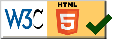 Valid HTML 5 by W3C